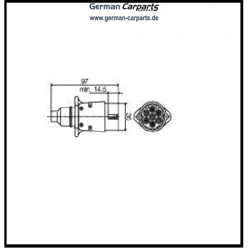 Ausgezeichnet 7 Poliger Stecker Farbcode Galerie - Elektrische ...