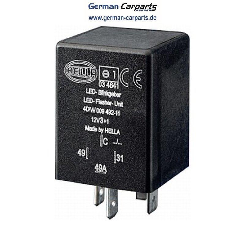 Hella 4DW 009 492-111 LED Blinkgeber, 12 V, 4 polig für Anh&auml