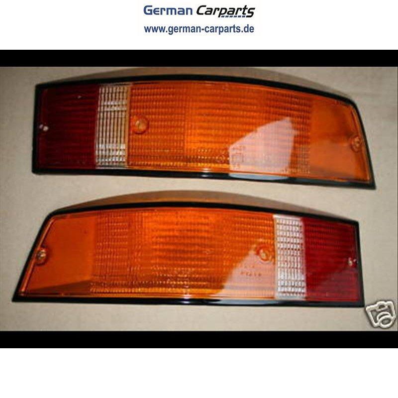 Rückleuchten Set schwarzer Rand Porsche 911 (F+G Modell) ´72-´88